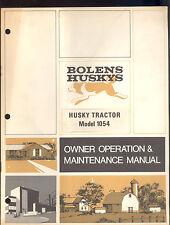 1970 BOLENS HUSKY TRACTOR MODEL 1054 OWNERS OPERATORS & MAINTENANCE MANUAL
