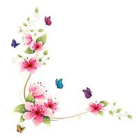 PVC Flowers Butterfly Wall Glass Stickers Bathroom Tile Wall Decor R1BO
