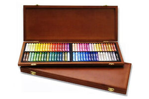 72 Colors Mungyo Gallery Artists' Round Full SZ Oil Pastel Wood Box MOP-72W