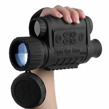 WG-50 Infrared Night Vision Camping IR Monocular Telescope 6x50 Record DVR Video