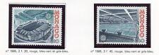 TIMBRE DE MONACO N° 1565/1566 ** EUROPA 1987 / ARCHITECTURE MODERNE