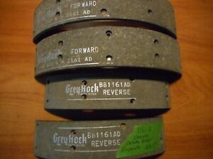 Vintage 6 Cyl. Chrysler Products brake lining 1161-A.  1946-56