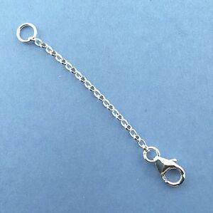 925 Sterling Silver Belcher chain Extender Converter Necklace Bracelet 1 Clasps
