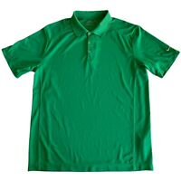 Mens Large Nike Green Dri Fit Tour Performance Short Sleeve Golf Polo Shirt L