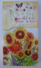g Bloom where you are planted LARGE PURSE POCKET NOTE PAD Punch Studios
