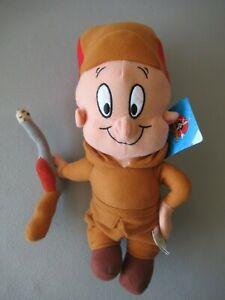 """Looney Tunes  Elmer Fudd Plush Doll with Rifle 14"""""""