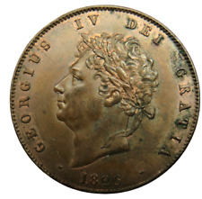 More details for 1826 king george iv halfpenny coin in higher grade