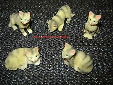 DOLLS HOUSE TABBY CAT RESIN PET MINIATURE 12 TH SCALE NEW
