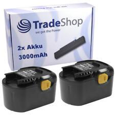 2x AKKU für AEG 14,4V 3000mAh Ni-MH ersetzt B-1414-G B-1415-R B-1420-R M-1430-R