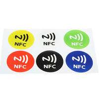 6Pcs Waterproof NFC Smart Tag Stickers Rfid Tag Adhesive Label For Samsung I2K8