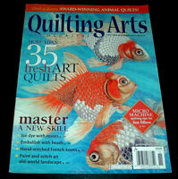 Quilting Arts Magazine Oct/Nov 2015 ~ Abstract Quilt Design ~ Ice Dyeing ++