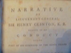 1783 Lieutenant General Sir Henry Clinton re King's Troops in North America 1st
