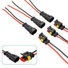 10 Kit 2 Pin Way Car Auto Waterproof Electrical Connector Plug with 6cm Wire