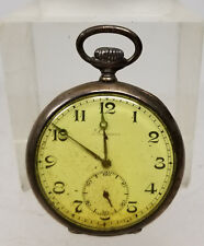 Antique Silver Cased Longines Grands Prix 800 Silver Pocket Watch As Is