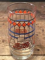 Pepsi-Cola Tiffany Style Stained Glass 1970's Drinking Glass