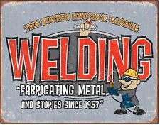 Busted Knuckles Garage - Welding  Metal Tin Sign Wall Art