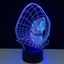 Touch Dimmer 3d Skull Lamp Night Light Abajur USB Novelty Dimmable LED Night