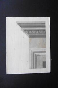 ITALIAN SCHOOL 19thC - DECORATIVE STUDY CLASSICAL ARCHITECTURE - INK-WATERCOLOR