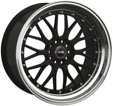 XXR 521 17X7 5x100/114.3 +38 Black/Machine Lip Wheel Fits Civic Veloster Eclipse