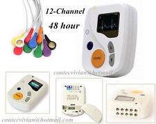 OLED 48hours 12-Kanal dynamische Holter-EKG-Gerät Recorder Sync PC-Software, CE