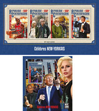 Michael Jordan Stalone Wody Allen Donald Trump Famous New Yorkers MNH stamp set