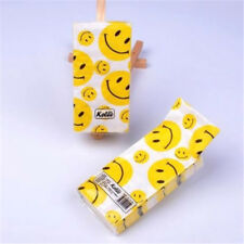 1Pack/10pc 21x21cm Smiling Face Home Paper Napkins Handkerchief Pocket Paper