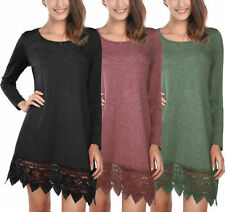 Viscose Knee Length Lace Dresses for Women