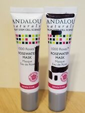 2x Andalou Naturals 1000 Roses Rosewater Mask Sensitive travel size .5oz /15ml