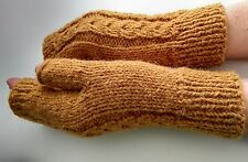 Biologique pure laine épaisse Poignet Warmers Mitaines handknitted handmade NEW