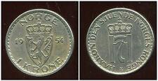 NORVEGE  1 krone 1954  ( bis )