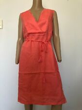 SPORTSCRAFT sleeveless linen dress guava 12 NWT RRP AU$249.99 work dinner