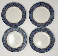 "Mikasa Intaglio Roman Court CAC05 Set of 4 Salad Side Plates 8-1/4"" Mosaic Trim"