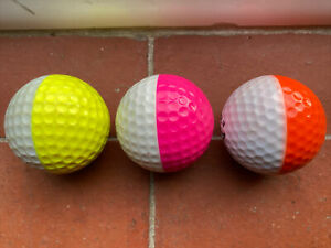 Ping Eye Golf Balls Trio Pink Orange Yellow Rare Vintage Lot Ping1