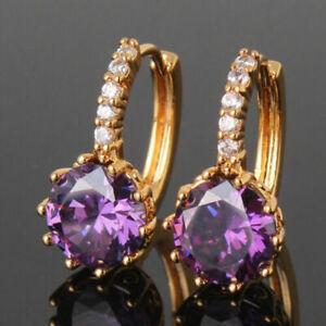 3Ct Round Cut Amethyst Drop/Dangle Women's Pretty Earrings 14K Rose Gold Over