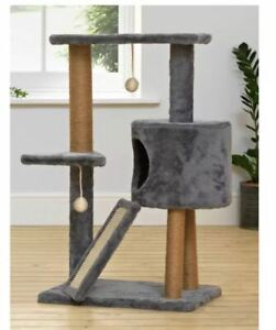 Cat Scratch and Rest Station 82cm Tall - Grey