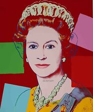 ANDY WARHOLE QUEEN ELIZABETH A4 GLOSSY PHOTO REPRINT RARE ART WORK PRINT NEW