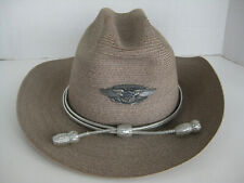 [B5] Confederate Airforce Ghost Squadron Stetson Resistol Hat 7 1/8 w pin/ badge