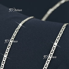 18K WHITE GOLD GF CHAIN LONG NECKLACE 80CM AEIWO