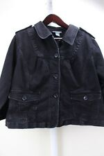 Motto Cotton Bend Black 4 Button Closure 3/4 Sleeve Jacket Size - 1X