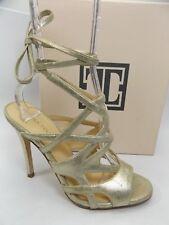 Ivanka Trump Hesther Platinum Gold Suede Women's Sandals SZ 7.5 M   D7363