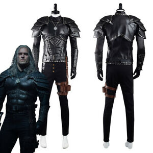 The Witcher Geralt of Rivia Cosplay Costume Halloween Outfit Carnival Suit