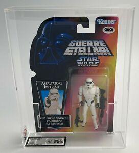 STAR WARS POTF 2 Stormtrooper 8 Back Italian GIG Card Kenner 1995 UKG 85%