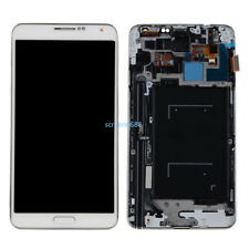 Per Samsung Galaxy Note 3 N9005 Lcd Display Touch Screen Schermo +Telaio Bianco