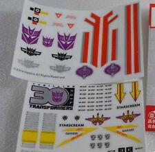 Hasbro Transformers Sticker Set FOR Masterpiece MP11 MP03 Starscream  NEW