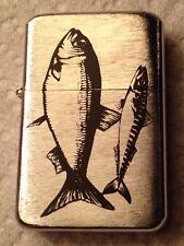 Fish - Metal Flip Top Refillable Oil Lighter - Fat & Skinny Fish -    L149