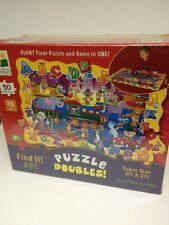 THE LEARNING JOURNEY ABC SCHOOL FLOOR PUZZLE AND GAME AND COLORING SET OF 2 NIB