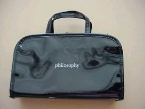 Philosophy Black Travel / Cosmetics Bag - Brand New!