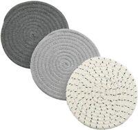 Potholders Set Trivets Set 100% Pure Cotton Thread Weave Hot Pot Holders Set