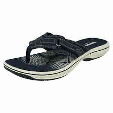 33734b6f696 Ladies Clarks Toe Post Summer Sandals Style - Brinkley Sea Navy Synthetic  UK 5 D