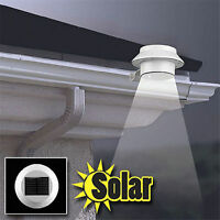 3 LED Solar Powered Gutter Outdoor/Garden/Yard/Wall/Fence/Pathway Lamp Light